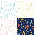 Baby bedrooms pattern vector image