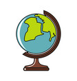 globe cartoon icon isolated on a white background vector image