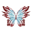 Grunge American Butterfly vector image