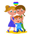 lesbian family vector image