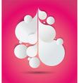 Paper Flourish Pink Background vector image