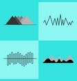 set of geometric charts on vector image