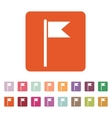 The flag icon Mark and navigation symbol Flat vector image