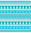 Winter pattern with christmas trees and deers vector image