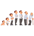 Generations men All age categories Stages of vector image