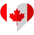 Canada flat heart flag vector image