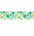 Abstract green circles seamless pattern background vector image