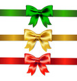 Set Of Color Bows vector image