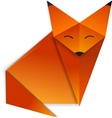 Origami Fox vector image