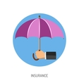 Insurance Flat Icon vector image vector image