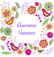 awesome summer vector image