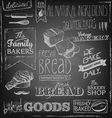 Bakery elements on a blackboard vector image