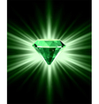 Beautiful green crystal background vector image
