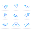blue design elements vector image
