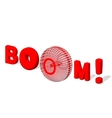 BOOM 3d text Boom poster isolated white vector image