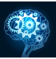 Brain with Gears vector image