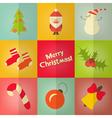 christmas icos set vector image