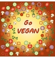 Go vegan template vector image