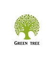Green tree circle icon Garden concept vector image