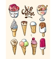 hand drawn ice cream vector image