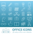 office outline icons vector image