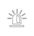 Police flasher outline icon Linear vector image