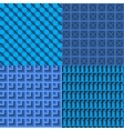 Set of blue seamless web background vector image
