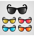 Set of realistic sunglasses vector image