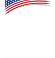 United States flag frame with copy space vector image