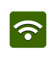 wifi app button vector image