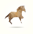 Horse isolated on a white background vector image vector image