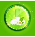Herbal pill Environment background vector image