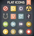 Universal Flat Icons for Applications Set 15 vector image vector image