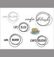 cafe coffee shop round logo collection vector image