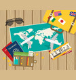world travel and tourism concept vector image vector image