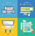 Element of web development concept icon in flat vector image
