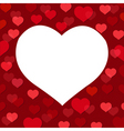 love heart card vector image vector image