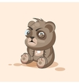 isolated Emoji character cartoon Bear squints and vector image