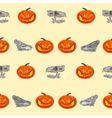Halloween Seamless texture pumpkin and skull vec vector image
