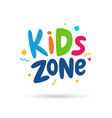 kids zone emblem vector image