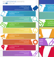 Progress SEO Infographics banner set vector image