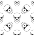 seamless retro pattern skull vector image