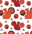 squirrel seamless backound vector image