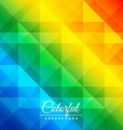colorful diamond patterns vector image