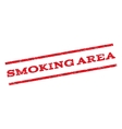 Smoking Area Watermark Stamp vector image
