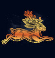 jacalope magical creature running or jumping vector image