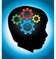 Child autism and education silhouette vector image vector image