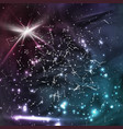 cosmic constellations modern background vector image