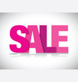 pink sales sign vector image