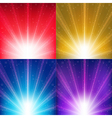 Abstract Color Backgrounds With Sunburst And Stars vector image